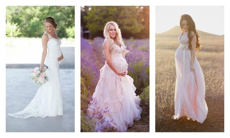 Најубавите летни фустани за бремени невести (фото)