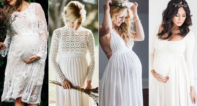 Најубавите летни венчаници за бремени невести (фото)